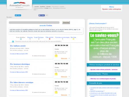 Avocats / Cabinets juridique à Cestas (33610)...