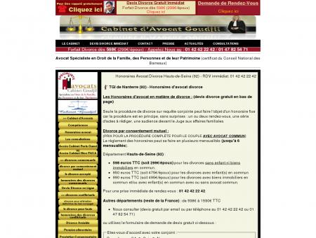 Honoraires Avocat Divorce Hauts-de-Seine (92)...