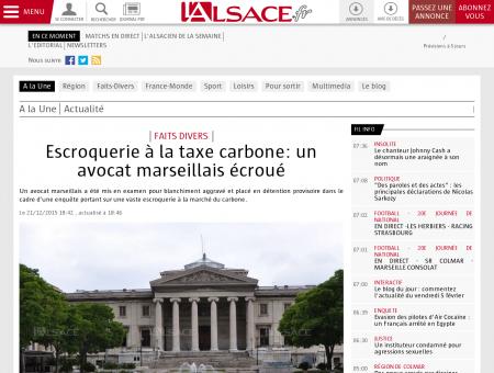 A la Une | Escroquerie à la taxe carbone: un...
