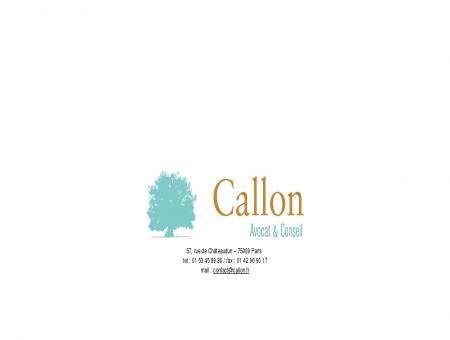 Callon Avocat & Conseil