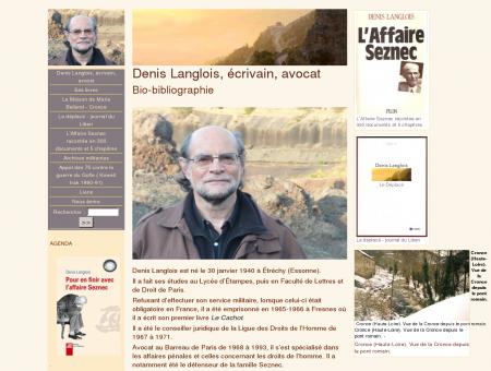 Denis Langlois, écrivain, avocat.