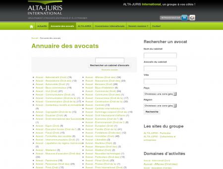 Annuaire des avocats   ALTA-JURIS International