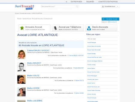 Avocat LOIRE ATLANTIQUE 44 - Juritravail :...