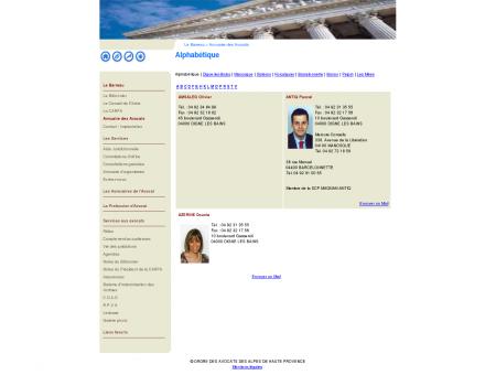 Annuaire des avocats des Alpes de Haute...