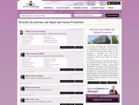 Avocats du barreau de Alpes-de-Haute...