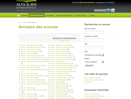 Annuaire des avocats | ALTA-JURIS International
