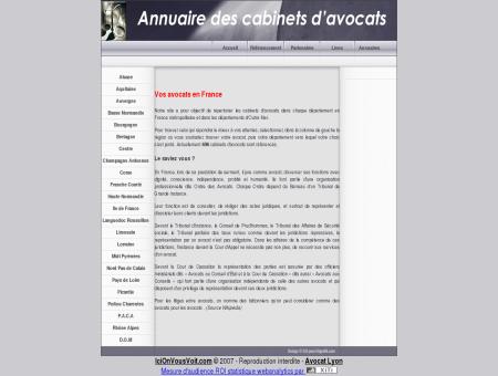 Annuaire des cabinets d'avocats