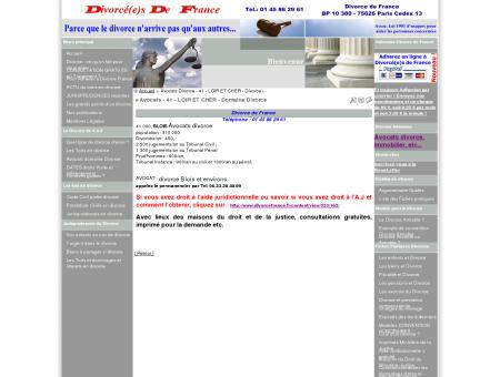 Avocats - 41 - LOIR ET CHER - Domaine Divorce