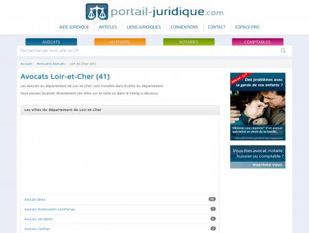 Avocats Loir-et-Cher (41) - Portail Juridique :...