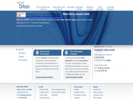 ORHON avocat, Creteil  Avocat Recouvrement