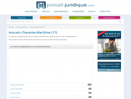 Annuaire Avocats - Charente-Maritime (17)
