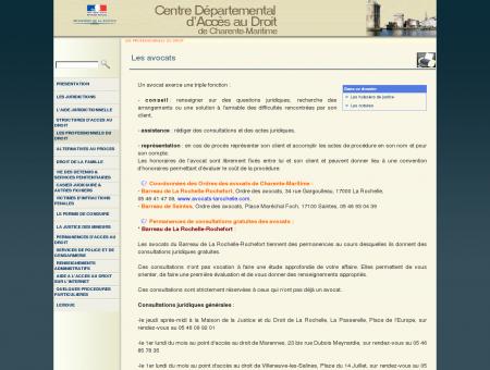 C.D.A.D. de la Charente-Maritime |Les avocats