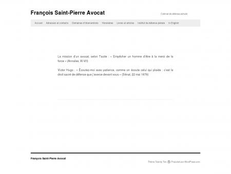 François Saint-Pierre Avocat | Cabinet de...
