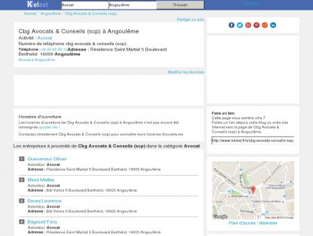 Cbg Avocats & Conseils (scp) - Avocat - résid...