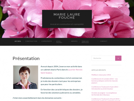 Marie Laure Fouché - Avocat en construction et...