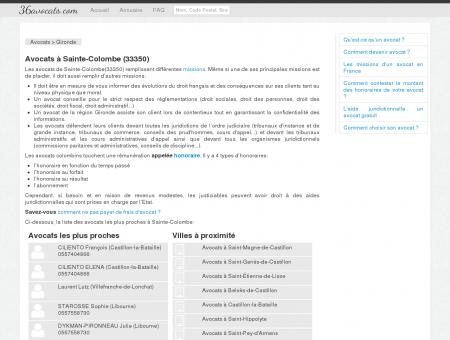 Avocats à Sainte-Colombe (33350)