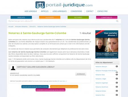 Notaire à Sainte-Gauburge-Sainte-Colombe (61)
