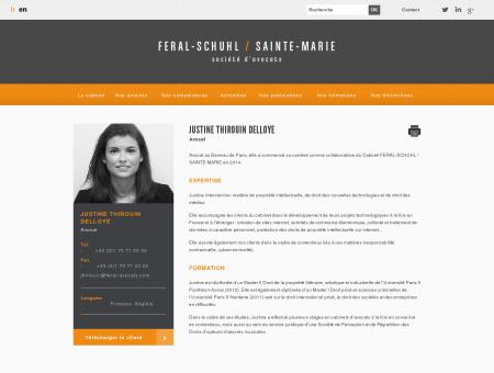 Justine Thirouin, Avocat | Feral-schuhl/sainte...