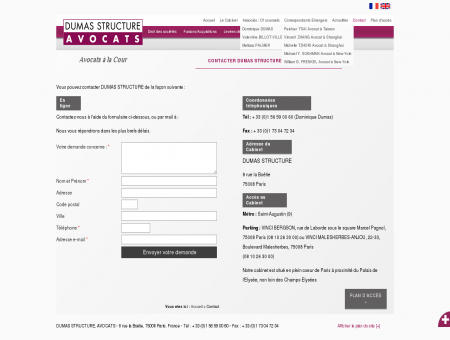 Contact cabinet d'avocats Paris 8, avocat parisien