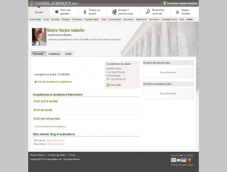 Isabelle Herpin (avocat, baudre) - Conseil...