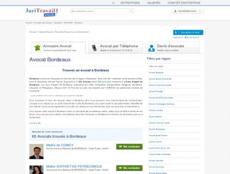 Avocat Bordeaux GIRONDE - Juritravail : droit...