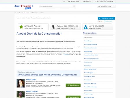 Avocat Droit de la Consommation - Juritravail :...