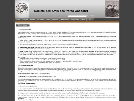 Biographie Des frères Goncourt - Home, accueil...