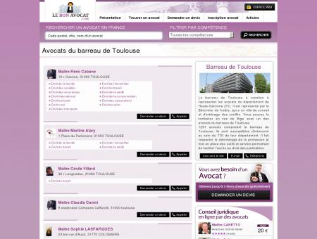 Avocats du barreau de Toulouse - Le Bon...