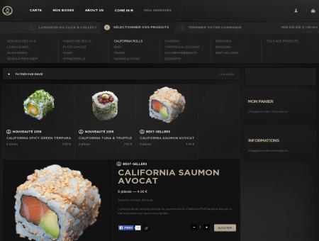 California Saumon avocat - Sushi Shop :...
