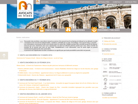Ventes judiciaires - Ordre des avocats de Nîmes