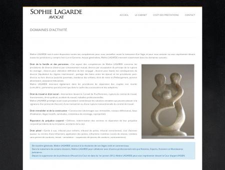 Sophie Lagarde ' Avocat » Domaines d'activité