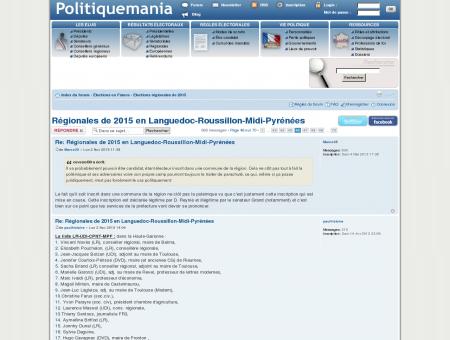 Régionales de 2015 en Languedoc-Roussillon...