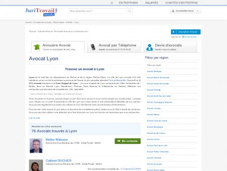Avocat Lyon RHONE - Juritravail : droit du...