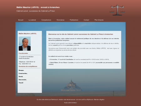 Maître Maurice LARVOL - avocat à Avranches |...