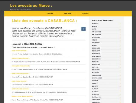 avocat a CASABLANCA : Annuaire des avocats...