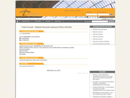Annuaire Avocat VERRIERES LE BUISSON -...