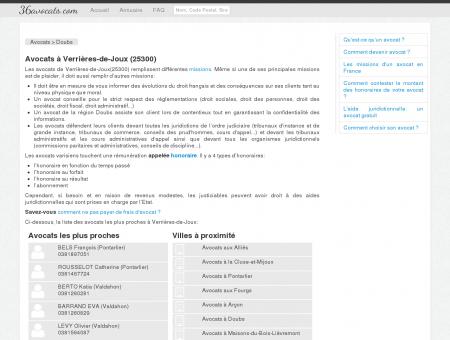 Avocats à Verrières-de-Joux (25300)
