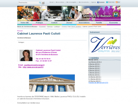 Cabinet Laurence Paoli Culioli, Mairie de...