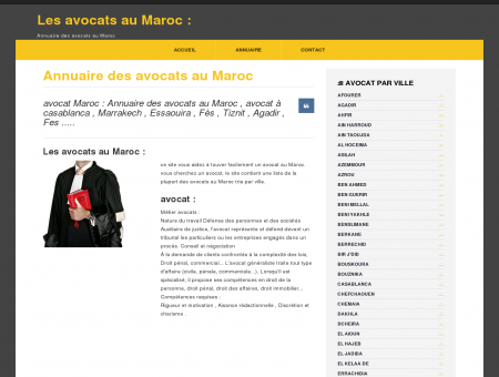 avocat Maroc : Annuaire Maroc : liste des...