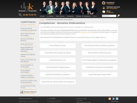Compétences - domaines d'interventions -...