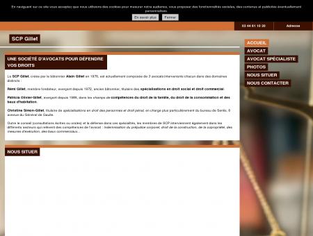 Cabinet d'avocats - SCP Gillet - Creil - Oise (60)