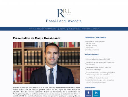 Accueil - Romain Rossi-Landi, Avocat à la Cour