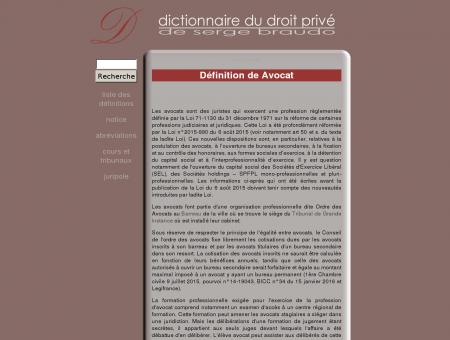 Avocat - Définition - Dictionnaire juridique
