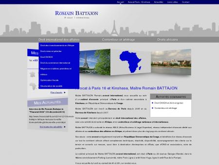 Avocat à Paris 16 et Kinshasa, Maître Romain...