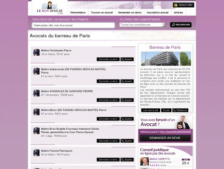 Avocats du barreau de Paris - Le Bon Avocat -...