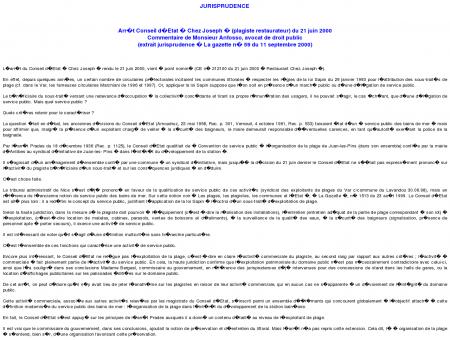 Commentaire de Monsieur Anfosso, avocat de...