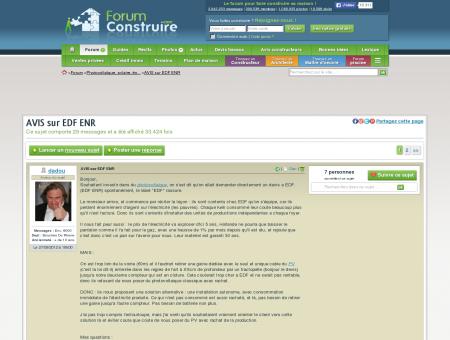 AVIS sur EDF ENR (29 messages) -...