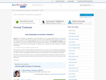 Avocat Toulouse HAUTE GARONNE - Juritravail...
