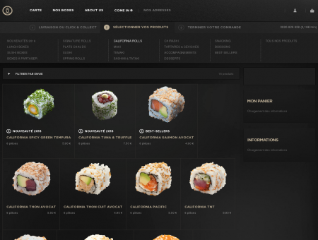 California Concombre avocat - Sushi Shop :...