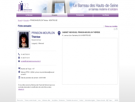 PRINSON-MOURLON THéRèSE - Avocat -...
